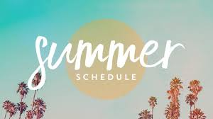 summer schedule image