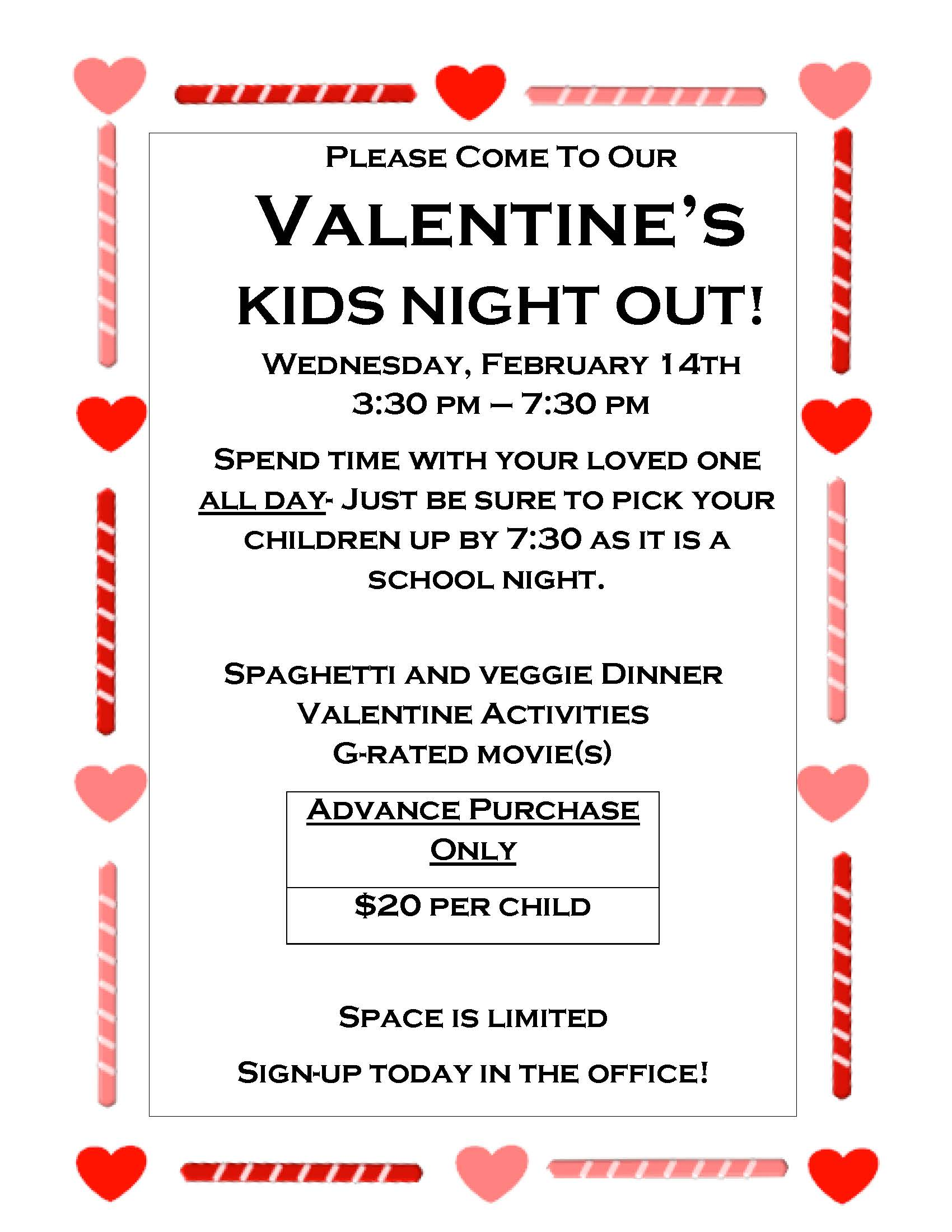 valentine kids night out