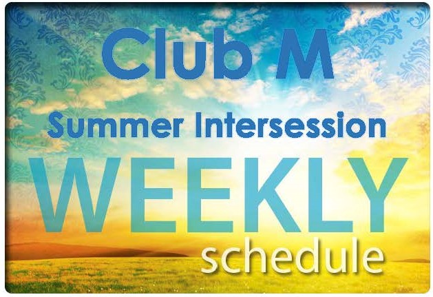 Club M Summer Weekly Schedule Image