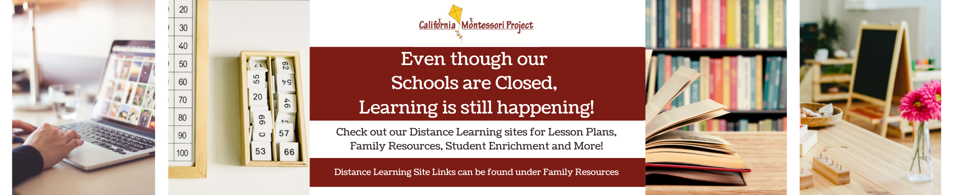 Even though our schools are closed, learning is still happening. Check out our distance learning sites for lesson plans, family resources, student enrichment and more! Distance Learning site links can be found under family resources.